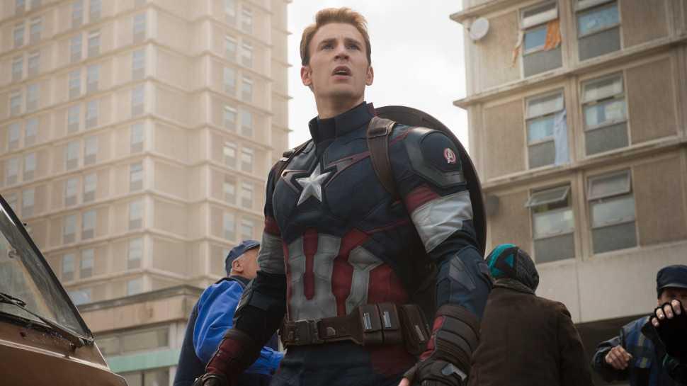 Chris Evans som Captain America.