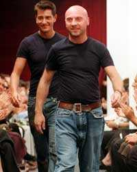 Stefano Gabbana och Domenico Dolce på den tid då de ännu var ett par.