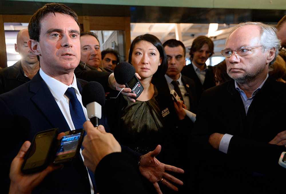 """""""Hotet är fortfarande närvarande"""", säger Frankrikes premiärminister Manuel Valls."""