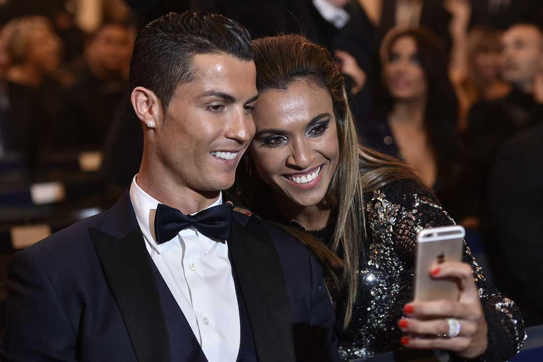 Marta och Ronaldo.