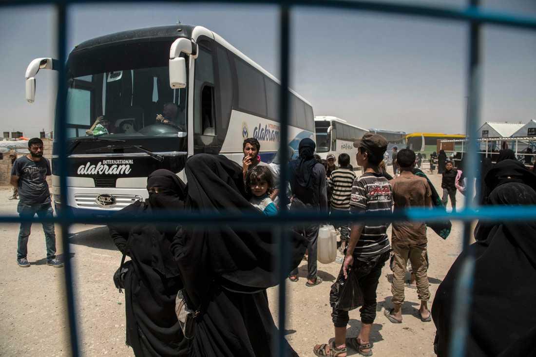 IS-medlemmar har försökt fly från al-Hol-lägret i Syrien. Arkivbild.