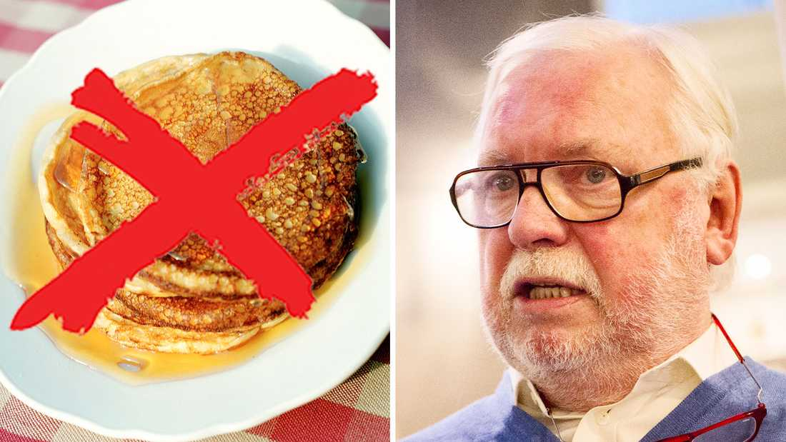Kändiskocken Leif Mannerström är kritisk till pannkaksstoppet.
