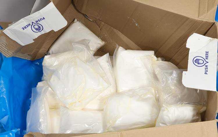 Tullverket hittade stora mängder amfetamin och annan narkotika gömt i en trailer i Trelleborg i juni 2019.