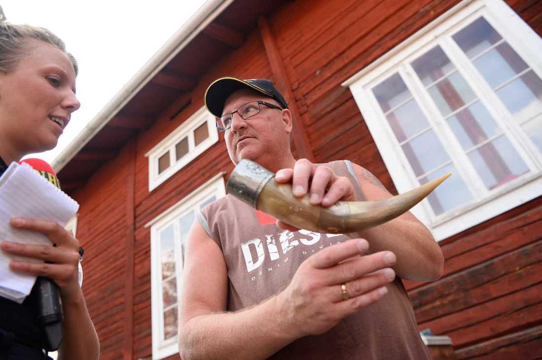 Tomas Lindén fyndade ett horn.
