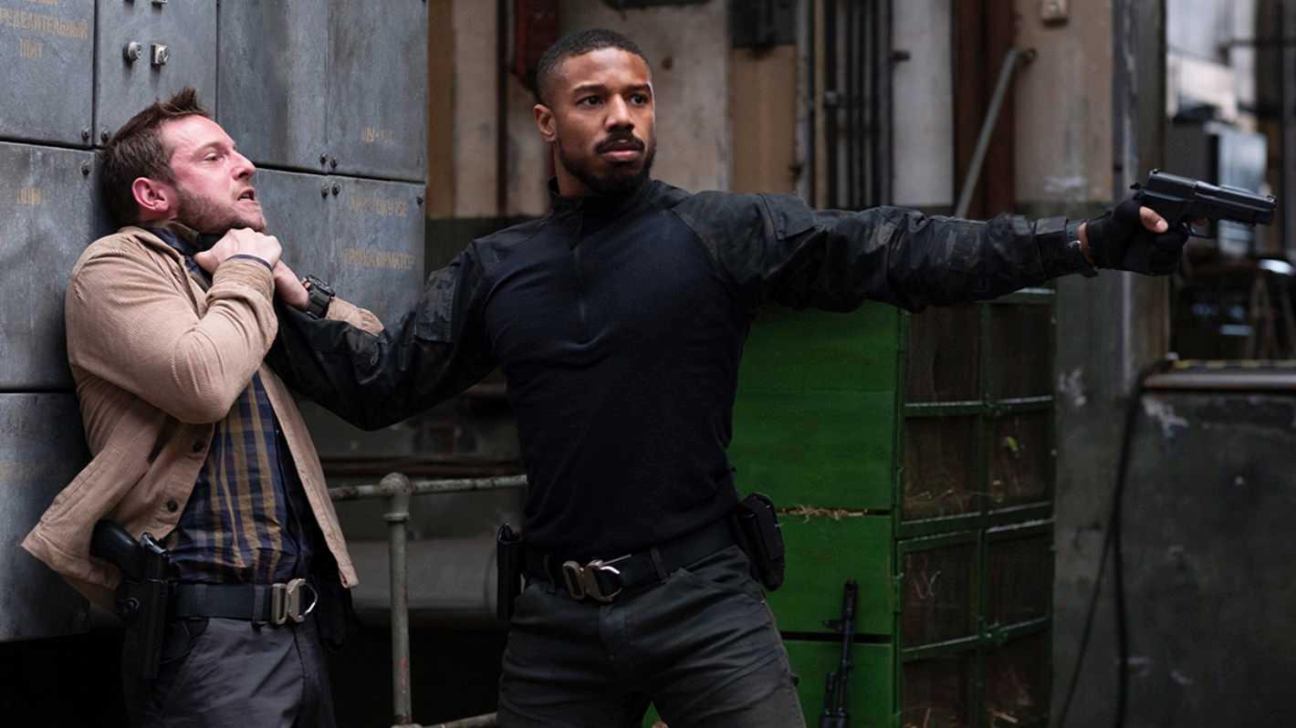 "Jamie Bell och Michael B Jordan i ""Without remorse""."
