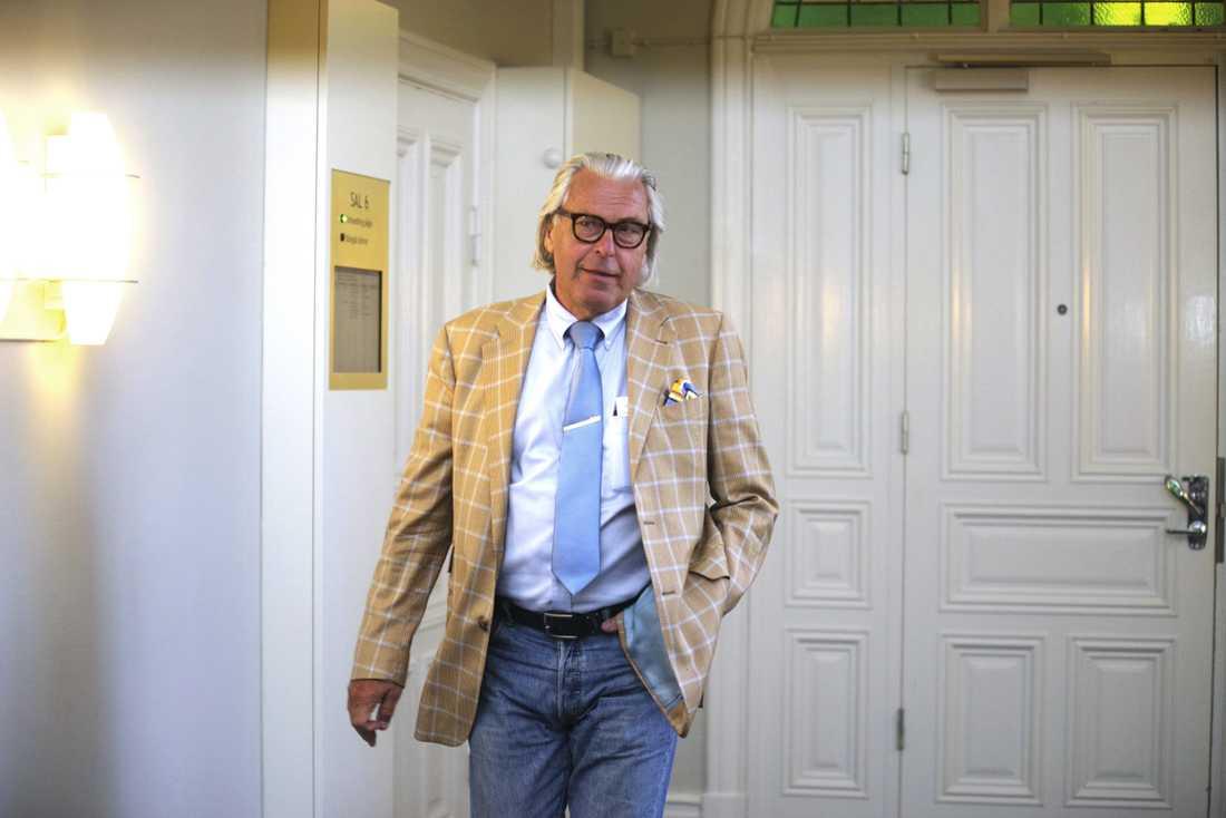 Häktningsförhandling, tingsrätten Karlskrona, mot den sk Ferraribedragaren, försvarsadvokaten Thomas Martinsson.