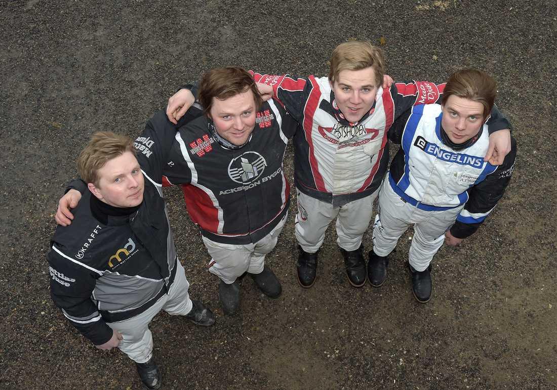 Fyra bröder Djuse: Mattias, Martin P, Mats E och Magnus A.