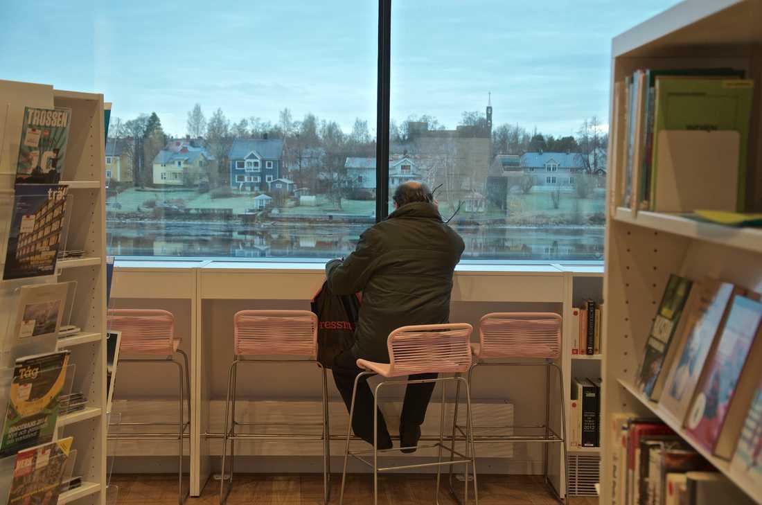 I Väven har Umeåborna fått ett nytt och luftigt stadsbibliotek. Foto: Po Tidholm