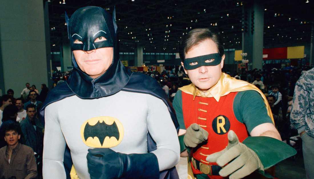 Adam West tillsammans med Burt Ward.