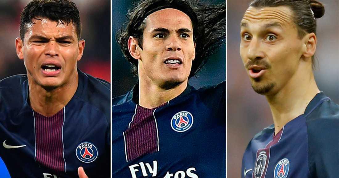 Silva, Cavani och Zlatan