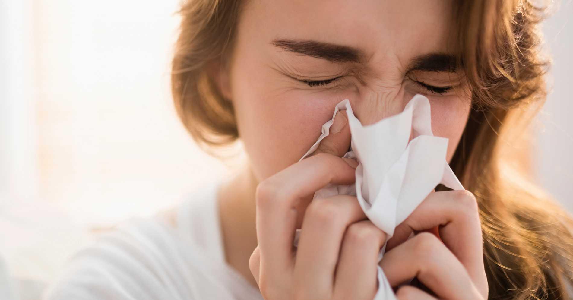 få stopp på rinnande näsa