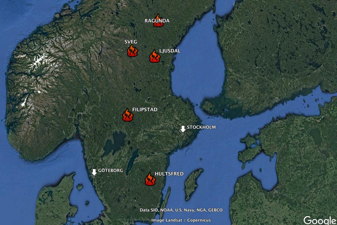 Karta Over Skogsbrander I Sverige.Polisen Privatpersoner Bryter Mot Eldningsforbudet Aftonbladet
