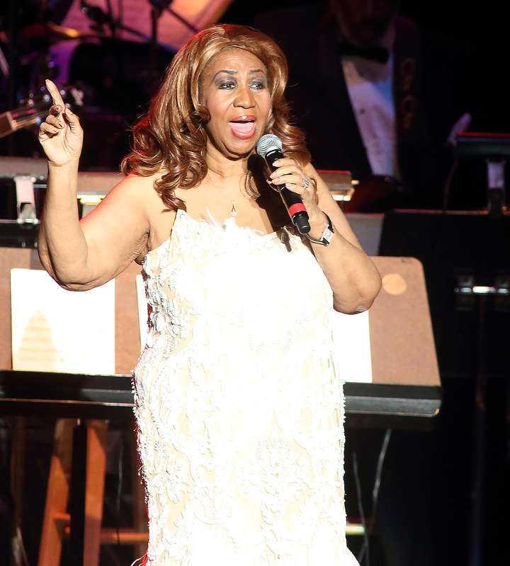 Aretha Franklin på en konsert i Baltimore 2014.