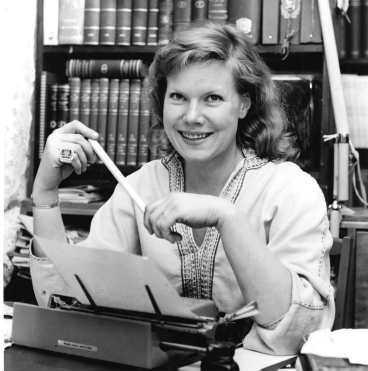 Birgitta Stenberg som ung författare 1962.