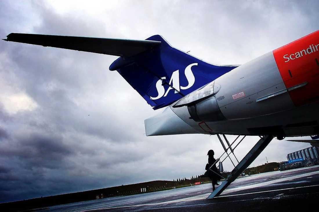 Ett SAS-plan fick inte komma in i pakistanskt luftrum. Obs, arkivbild.