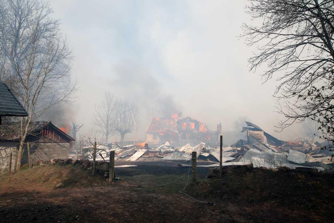 Branden i Hästveda.