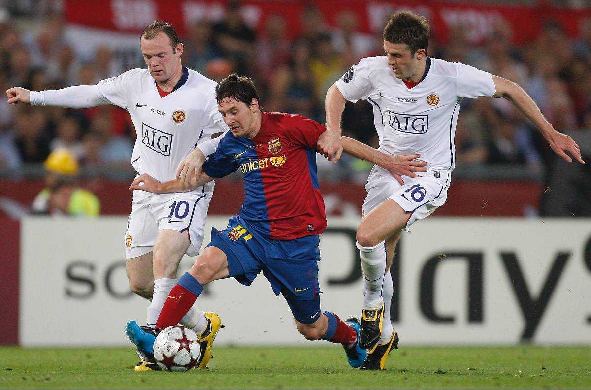 Wayne Rooney och Lionel Messi i ett tidigare möte.