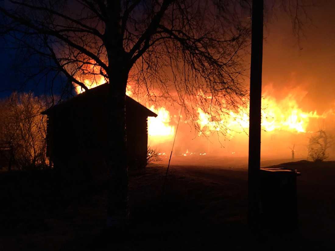 Brand utanför Orsa.