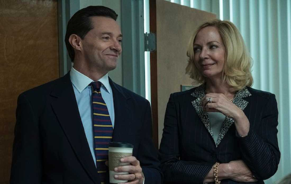"Hugh Jackman och Allison Janney i ""Bad education""."