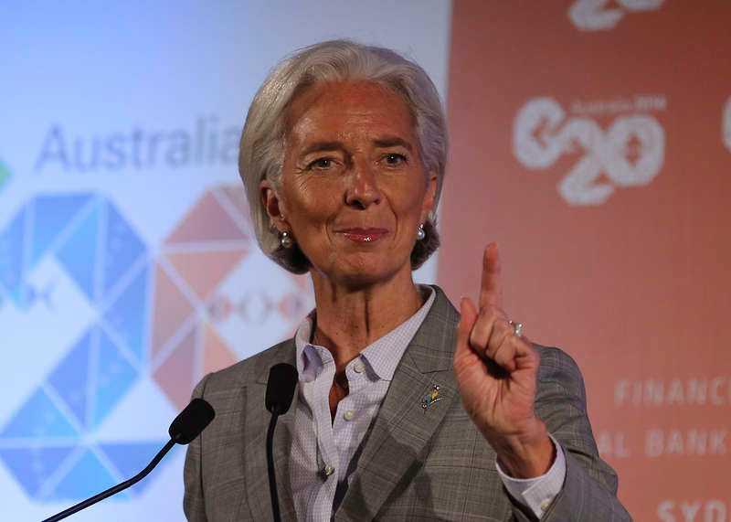 Christine Lagarde, IMF-bas.