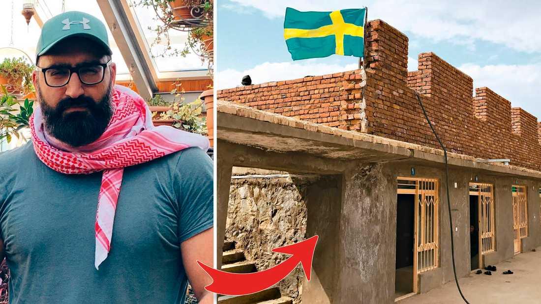 Hamid Zafar flydde från Afghanistan till Sverige med sin familj som femåring. Nu vill han hjälpa.