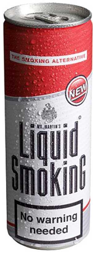 I stället för cigaretter Liquid smoking innehåller nikotin.