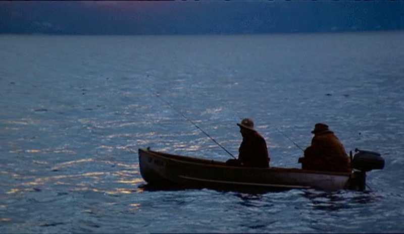 Fredo (John Cazale) mördades ute på sjön.