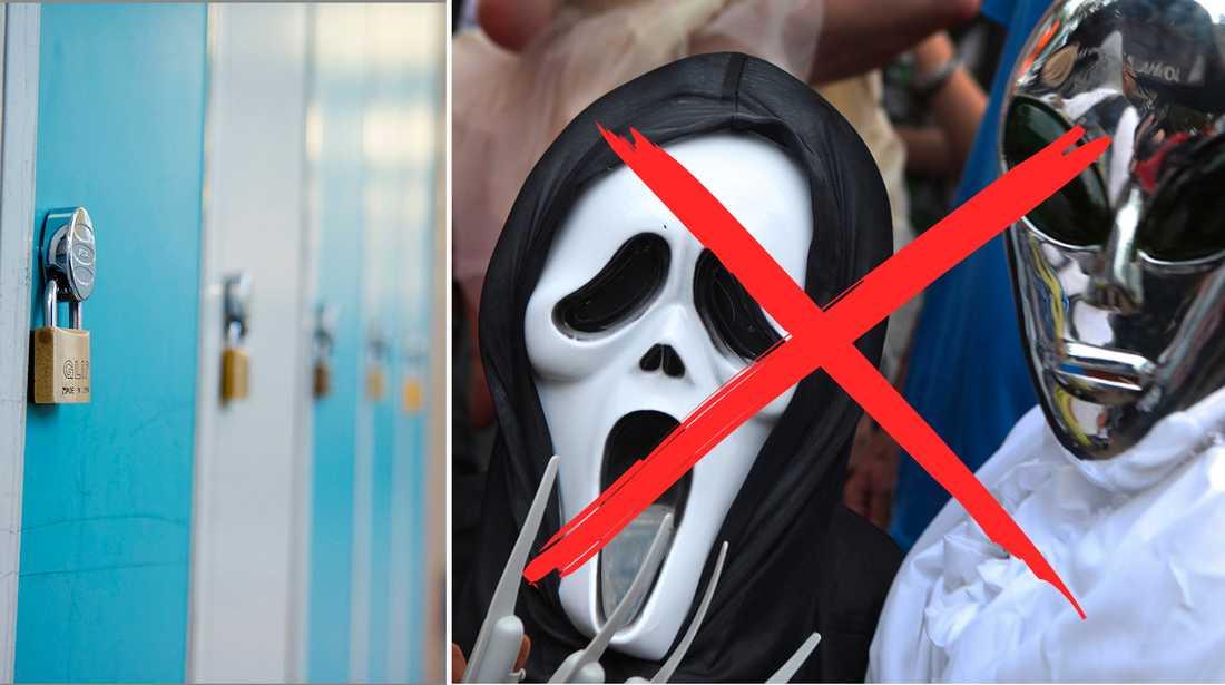 Man får inte klä ut sig hur som helst under Halloween i skolan.