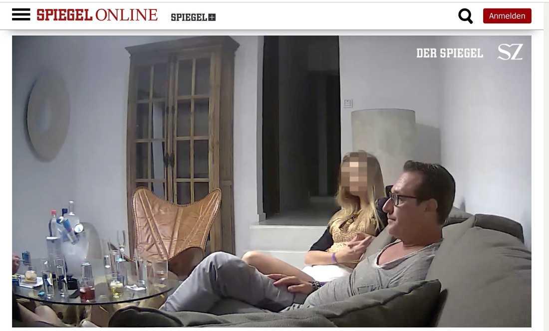 Faximil från tidningarna Der Spiegel och Süddeutsche Zeitung publicerat  filmklippet
