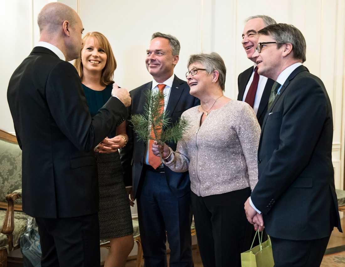 Avtackning för Fredrik Reinfeldt, januari 2015.
