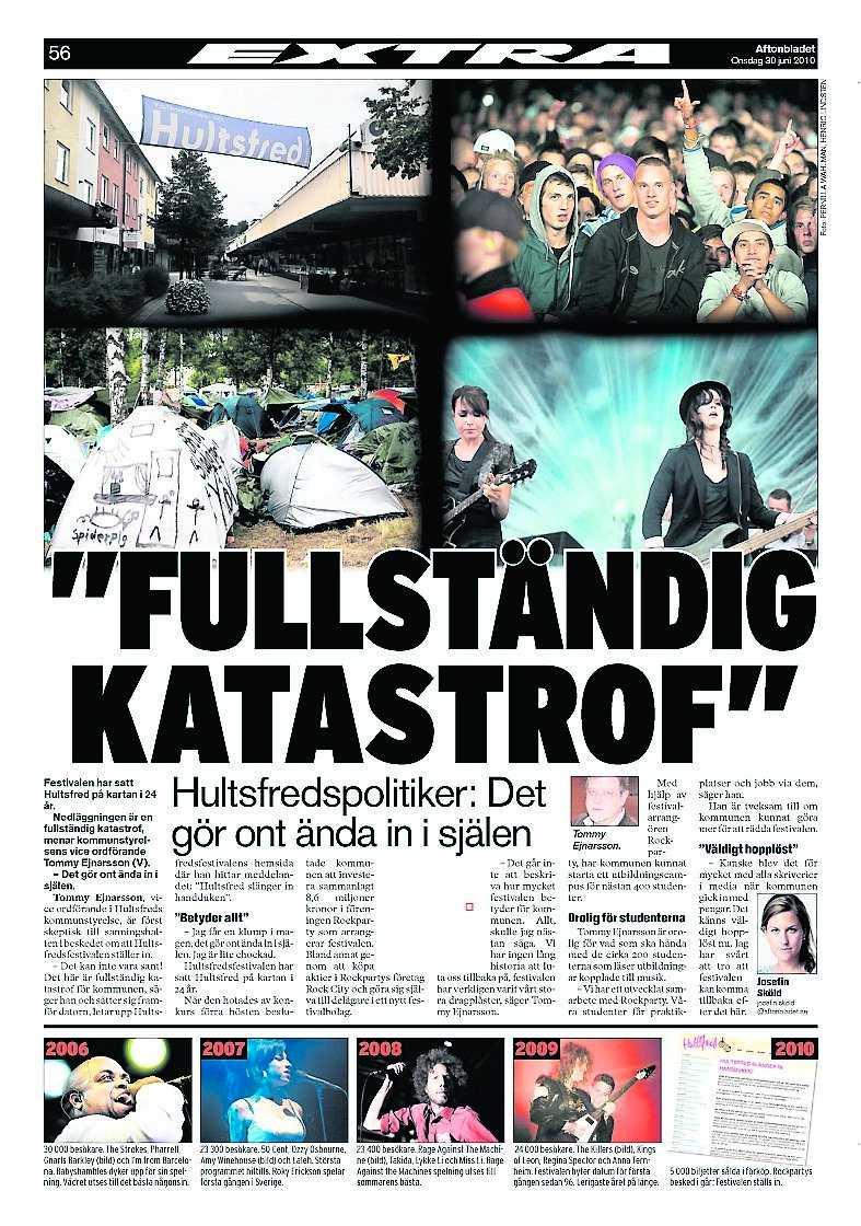 Nöjesbladet 30 juni i år.