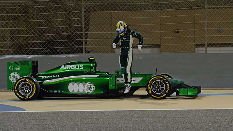 Marcus Ericsson i problem.