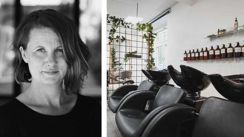 För ungefär tio år sedan började jag känna att det inte kändes riktigt bra att använda vissa produkter, utifrån min miljömedvetenhet och de värderingar jag har, berättar Maria Hellström
