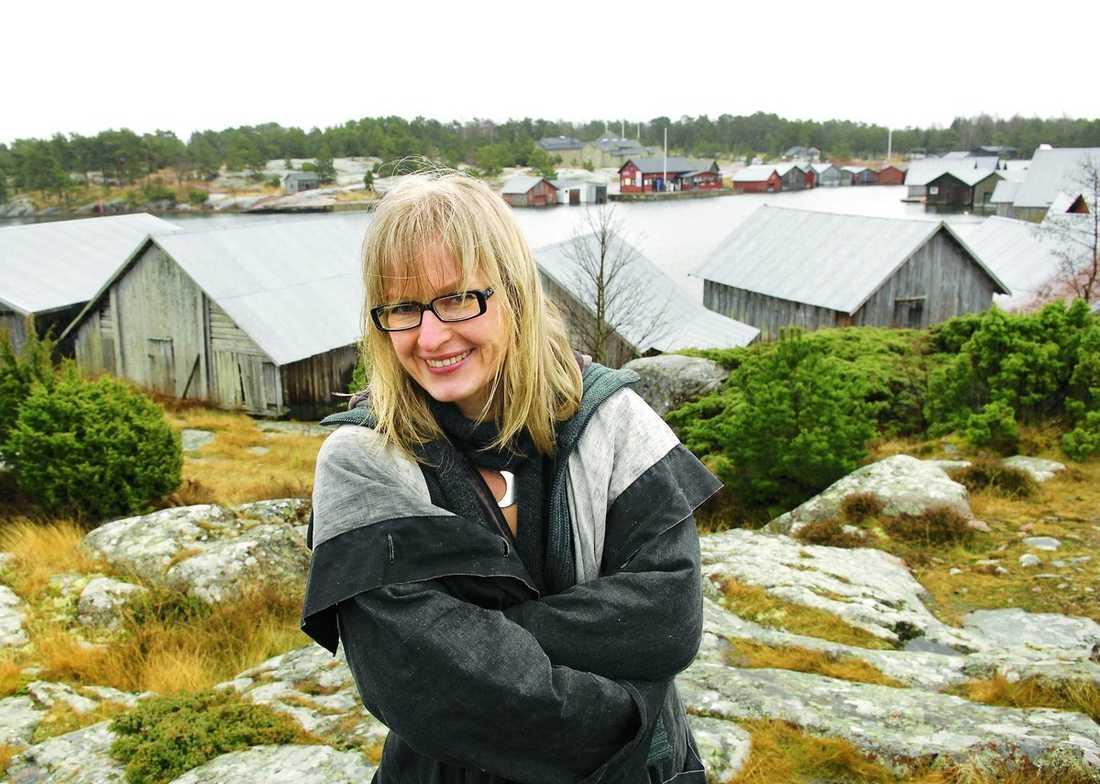 favoritstråket. Här vid Ålands skärgård, ett stenkast från lägenheten i Mariehamn, hittar Giséla sitt inre lugn.