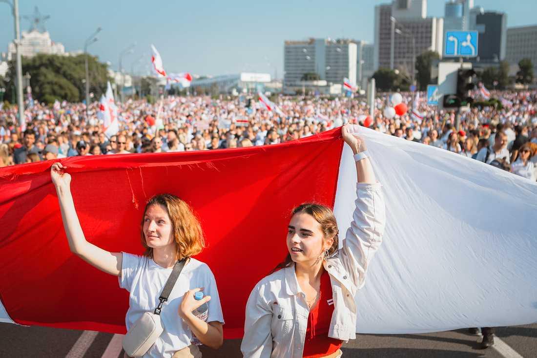Dramaten ger en pjäs om protesterna i Belarus. Pressbild.