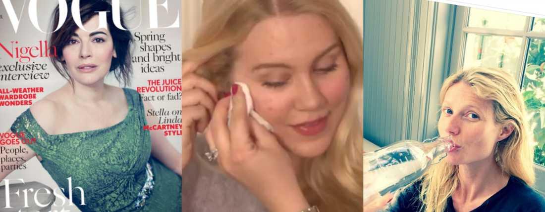 Att visa upp sig osminkat har blivit en kändis-trend. Nigella Lawson, Isabella Löwengrip och Gwyneth Paltrow är några som hakat på.