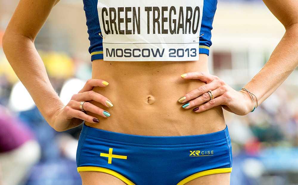 Emma Greens uppmärksamma naglar under friidrotts-VM i Moskva 2013.