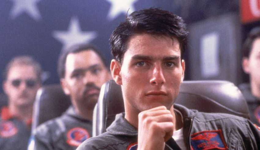 "Tom Cruise i ""Top gun"" (1986)."