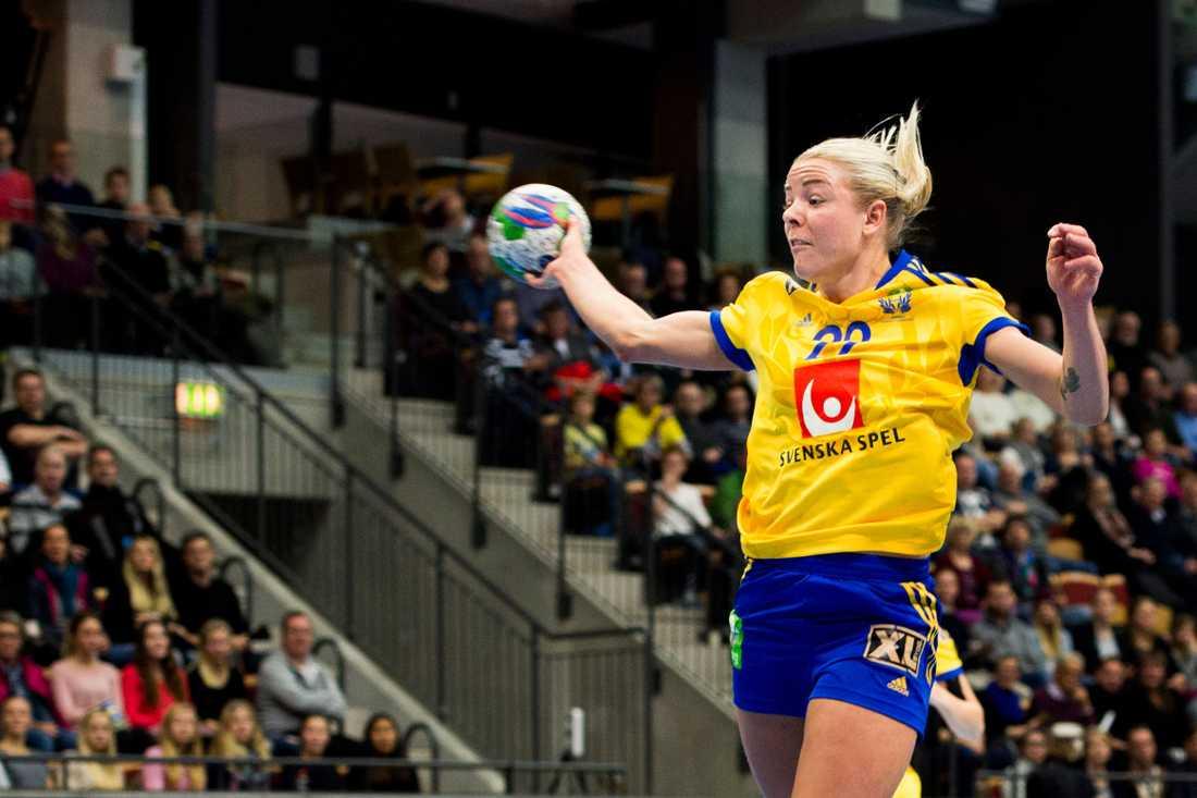Jessica Helleberg Ålder: 27. Position: Vänstersexa. Klubb: Odense.