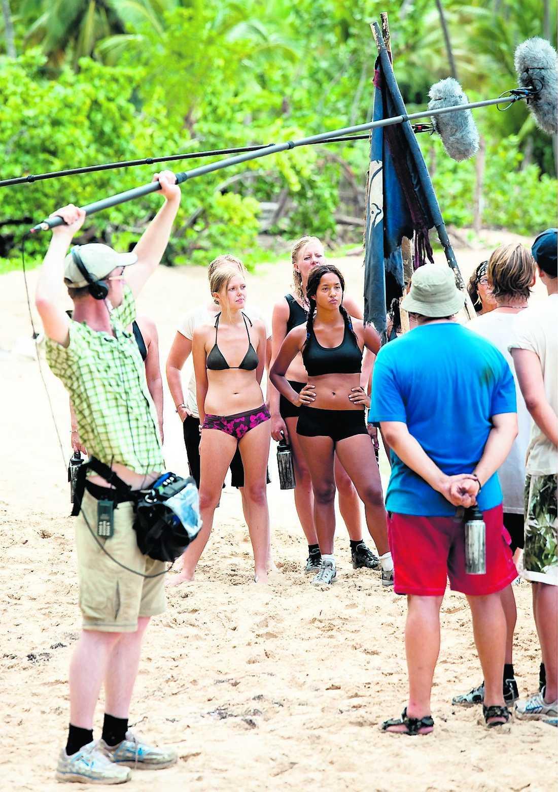 """SNABB UTSLAGNING Så här såg det ut när """"Robinson Karibien"""" spelades in förra sommaren. Nästa säsong kan ön bli riktigt öde. Alla som sökt har försvunnit i cyberrymden."""