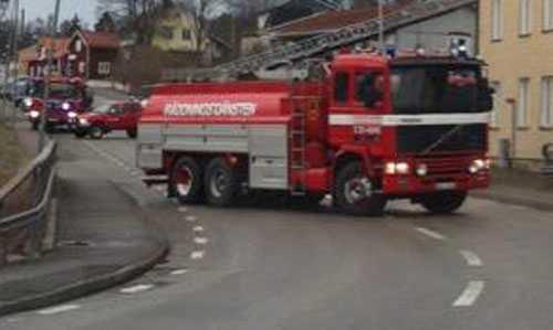 Brandkåren ryckte till platsen.