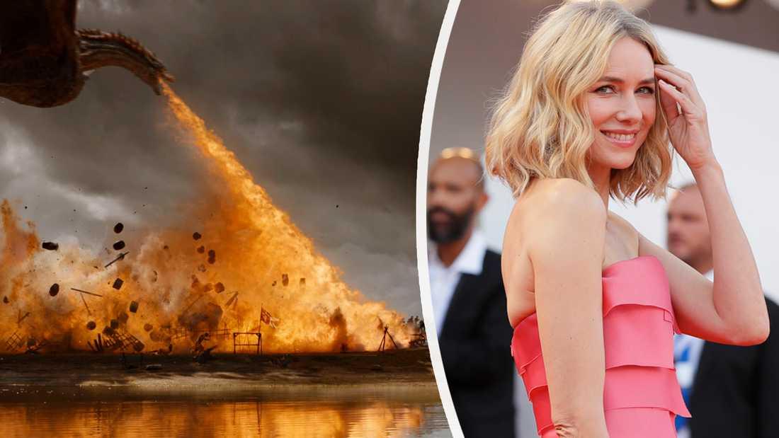 """Skådespelaren Naomi Watts kommer att spela en adelsdam med mörka hemligheter i uppföljaren till """"Game of thrones"""". Montage."""