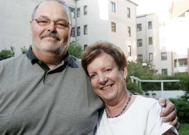 Lyckliga igen Hans Johansson fick stöd av sin fru Anki att komma över sina erektionsproblem.