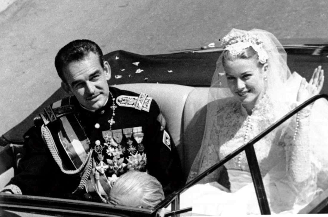 Rainier III och Grace Kelly.