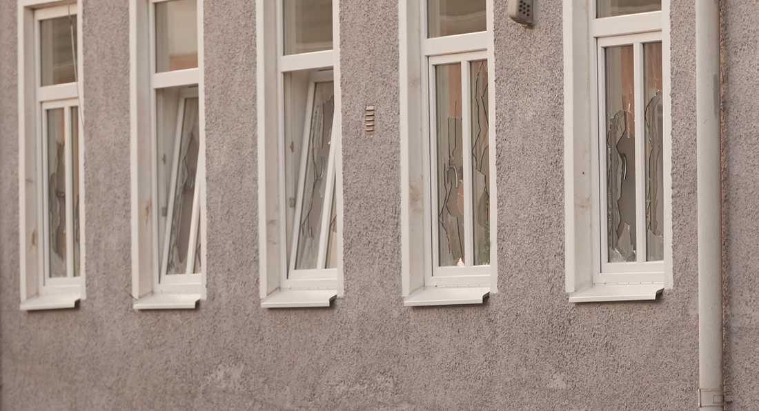 Flera personer blev knivskurna och fönster krossades på orten utanför Trelleborg tidigare i veckan. Arkivbild.