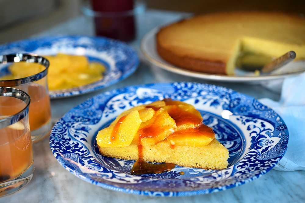 Apelsinkaka med mandel
