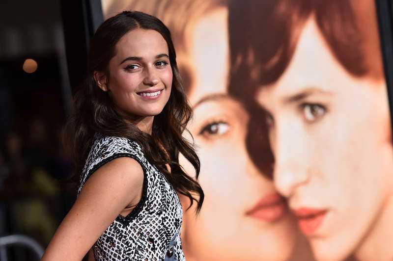 """Alicia vann Bästa kvinnliga biroll för sin insats i """"The danish girl"""" vid Screen actors guild awards i januari 2016."""