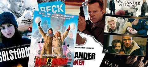 Några av filmerna som mannen misstänks ha spritt.