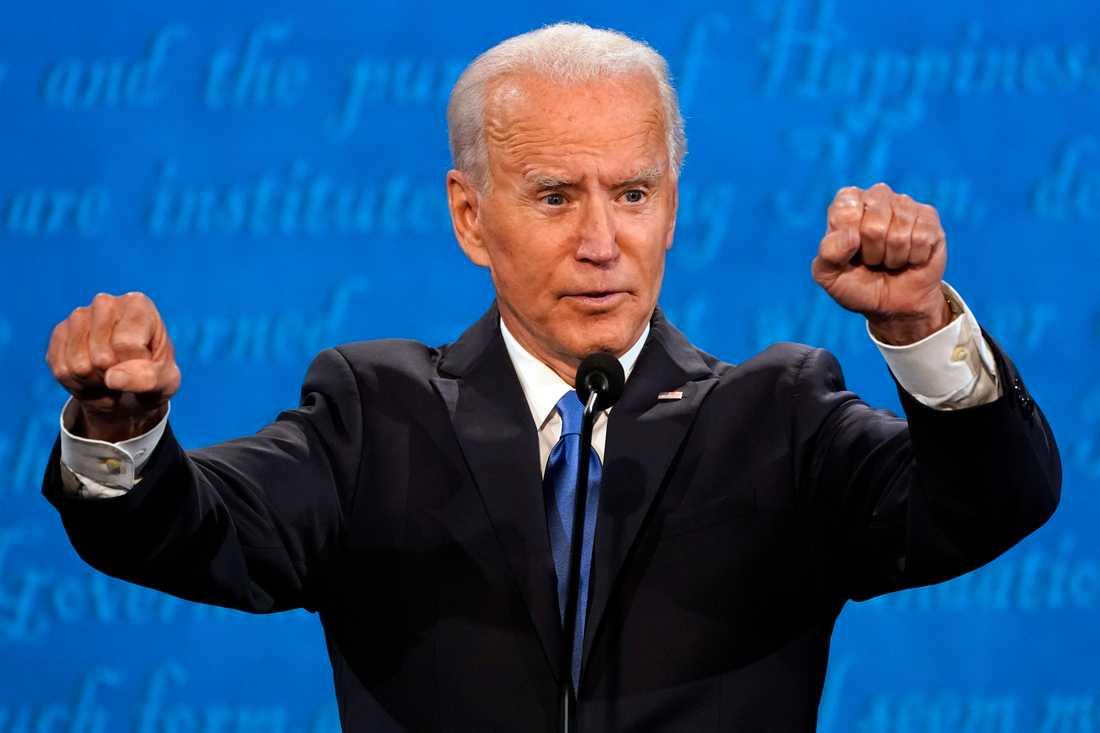 Demokraternas presidentkandidat Joe Biden under debatten.