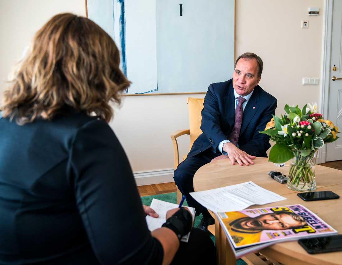 Aftonbladet har träffat statsminister Stefan Löfven inför mandatperiodens sista riksdagsdebatt i dag.